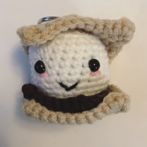 Made to order 💖S'mores crochet keychain handmade